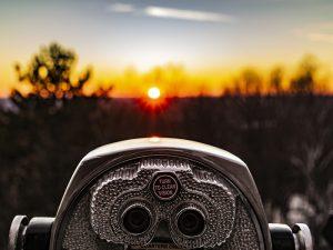 Sunrise with Binoculars